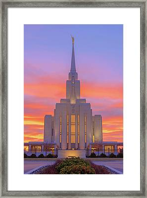 Framed Print featuring the photograph Oquirrh Mountain Temple IIi by Chad Dutson