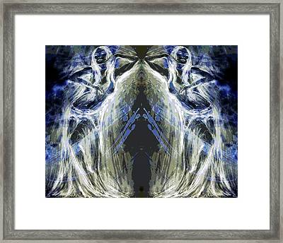 Oracles At The Cave Of Creation Framed Print by Zoe Oakley
