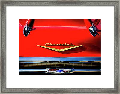 Orange '57 Chevy Framed Print by Douglas Pittman