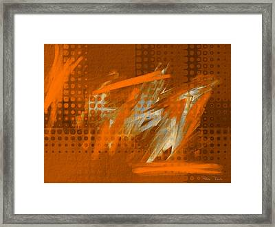 Orange Abstract Art - Orange Filter Framed Print