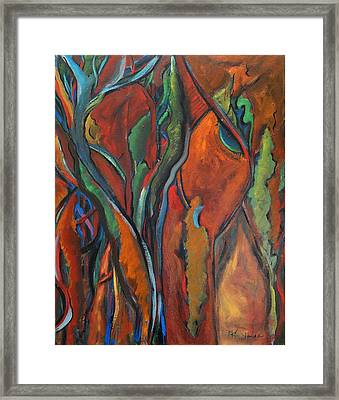 Orange Abstract Framed Print