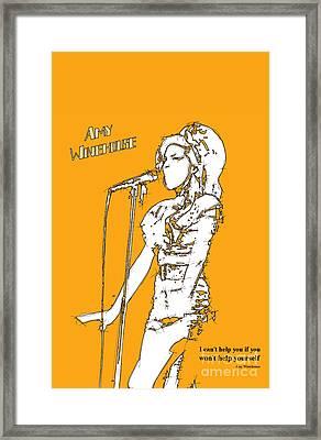Orange Amy Framed Print