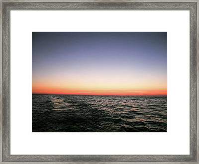 Orange And Black Framed Print
