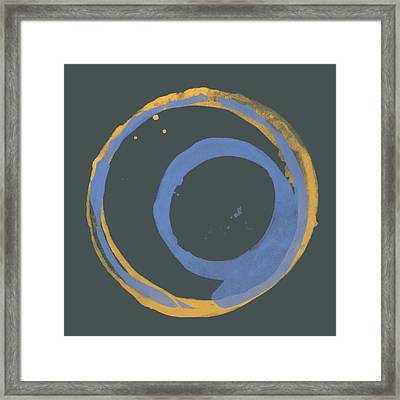 Orange And Blue 3 Framed Print