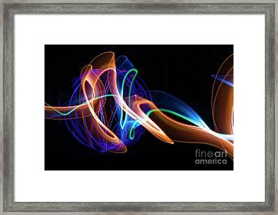 Orange And Blue Orb Framed Print