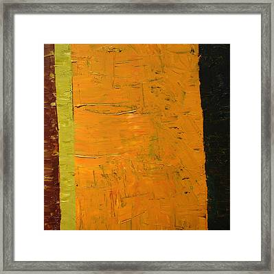 Orange And Brown Framed Print