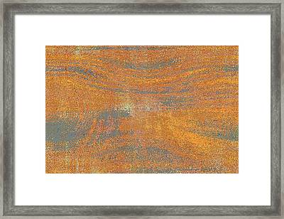Orange And Gray Abstract Framed Print by Carol Groenen