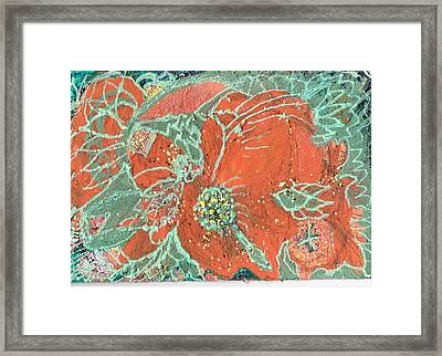 Orange And Green And A Tangerine Framed Print by Anne-Elizabeth Whiteway