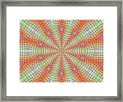 Framed Print featuring the digital art Orange And Green by Elizabeth Lock