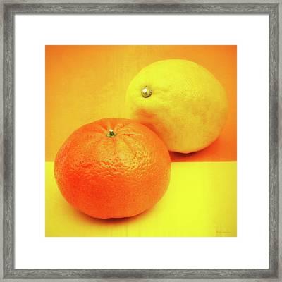 Orange And Lemon Framed Print