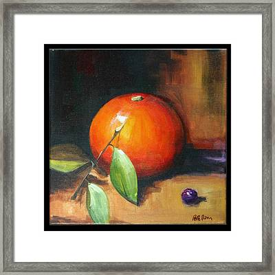 Orange And Purple Framed Print by Pepe Romero
