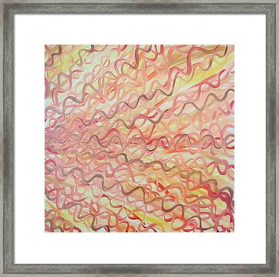 Framed Print featuring the painting Orange And Red   by Beth Akerman