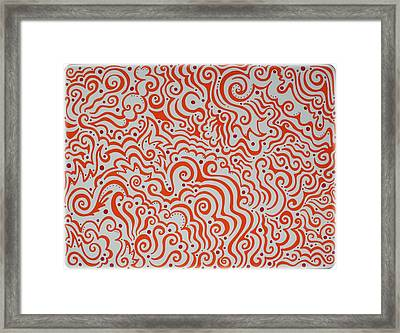 Orange And Red Abstract Framed Print by Mandy Shupp