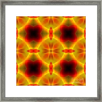 Rad And Tellow Organic Abstraction Framed Print by Jack Dillhunt