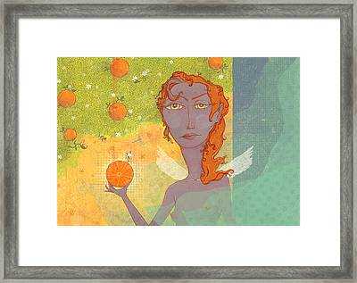 Orange Angel 1 Framed Print by Dennis Wunsch