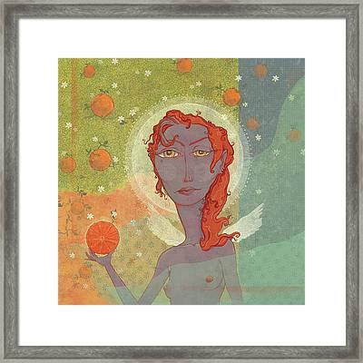 Orange Angel 4 Framed Print