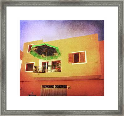 Framed Print featuring the photograph Orange Apartment, Alcala by Anne Kotan