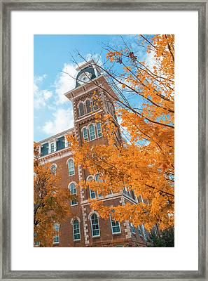 Orange Autumn - University Of Arkansas Old Main - Fayetteville  Framed Print