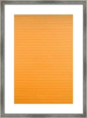 Orange Background Framed Print by Boyan Dimitrov