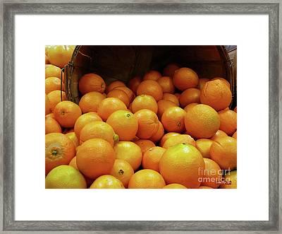 Orange Basket Framed Print by Methune Hively