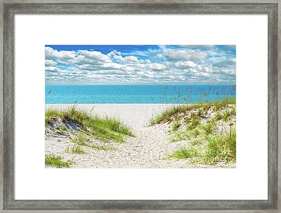 Orange Beach Al Seascape 1086a Framed Print