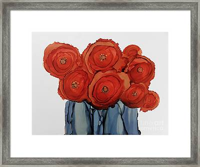 Orange Blooms Framed Print