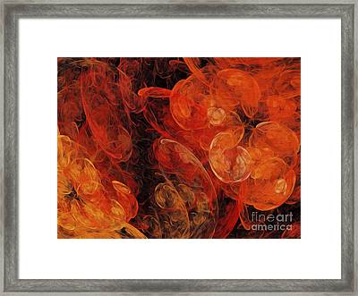 Orange Blossom Abstract Framed Print by Andee Design