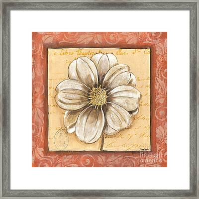 Orange Bohemian Dahlia 1 Framed Print