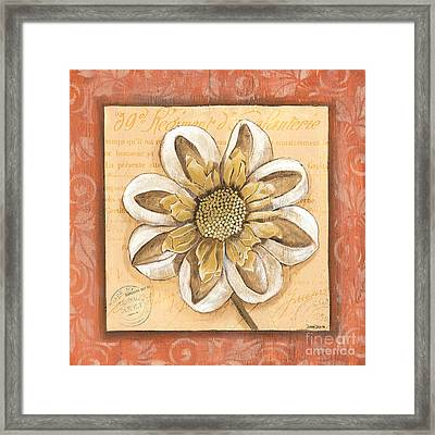 Orange Bohemian Dahlia 2 Framed Print