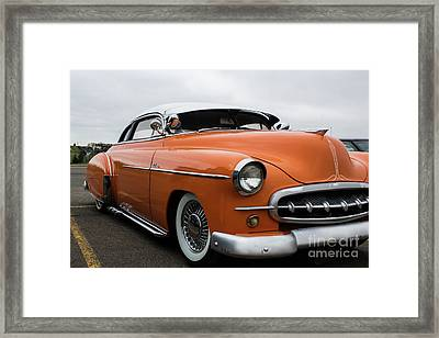 Orange Bomb Framed Print