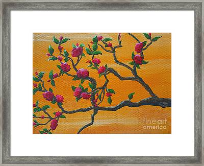 Orange Branch Framed Print
