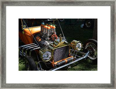 Orange Bucket Framed Print by Bill Dutting