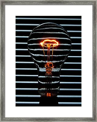 Orange Bulb Framed Print by Rob Hawkins