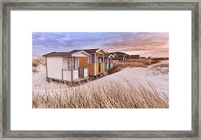 Orange Cabin Framed Print by Emanuele Carlisi