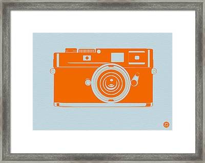 Orange Camera Framed Print by Naxart Studio