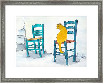 Orange Cat Framed Print by Michaela Bautz