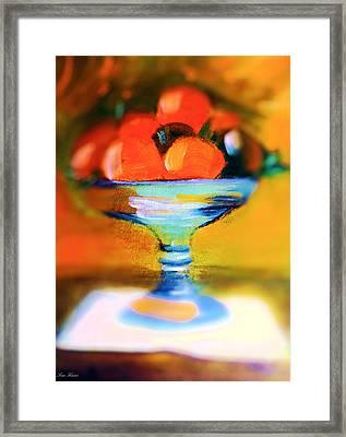 Orange Center Piece Framed Print by Lisa Kaiser