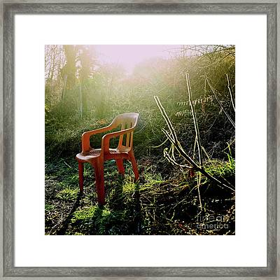 Orange Chair Framed Print by Bernard Jaubert