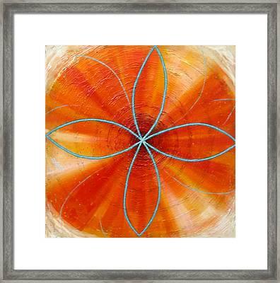 Orange Chakra Framed Print by Anne Cameron Cutri