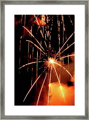 Orange Chetola Fireworks Framed Print