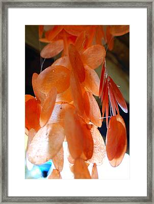 Orange Chimes Framed Print by Heather S Huston