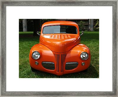 Orange Classic  Framed Print