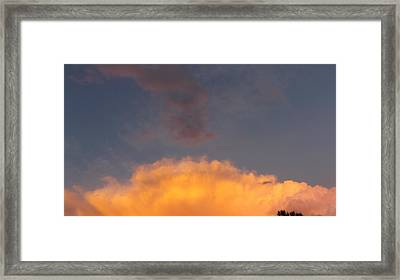 Orange Cloud With Grey Puffs Framed Print