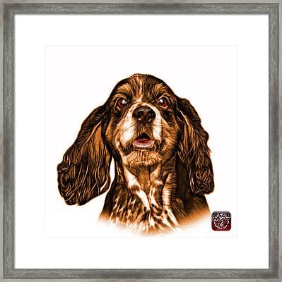Orange Cocker Spaniel Pop Art - 8249 - Wb Framed Print