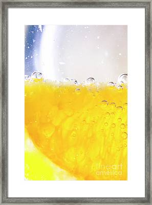 Orange Cocktail Glass Framed Print