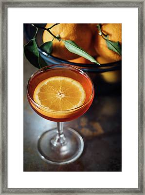 Orange Cocktail Framed Print by Happy Home Artistry