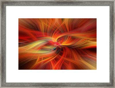 Orange Colored Abstract. Concept  Immense Gratitude Framed Print by Jenny Rainbow