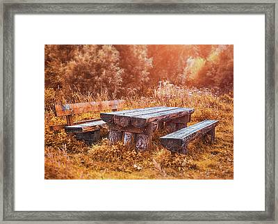 Orange Country Framed Print