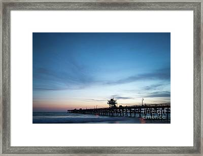 Orange County California San Clemente Pier Photo Framed Print
