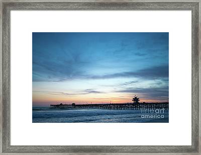 Orange County Pier San Clemente Sunset Photo  Framed Print